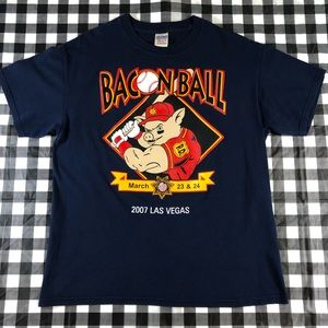Bacon Ball Pig 2007 Las Vegas Police Cops Baseball